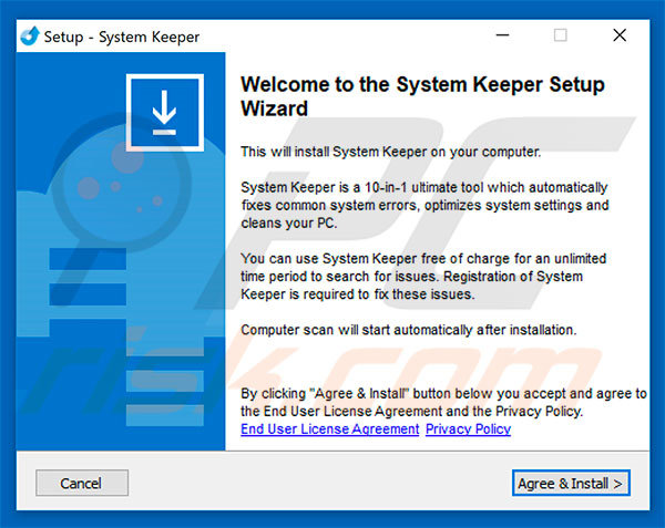 System Keeper installation setup