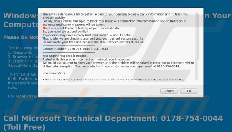 tech support scam through compromised drupal cms websites