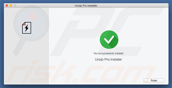 Delusive installer used to promote UnzipPro