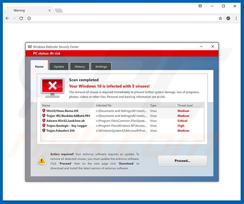 How to remove Windows Defender Security Center POP-UP Scam - virus