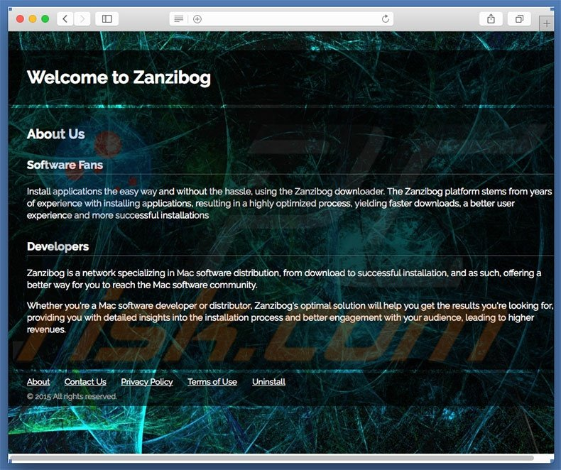 Dubious website used to promote search.zanzibog.com
