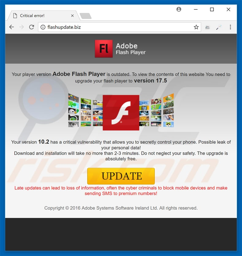 How to remove Adobe Flash Player Update POP-UP Scam - virus