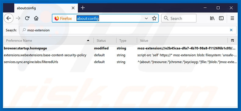 Removing search.hgomapsandirections.com from Mozilla Firefox default search engine