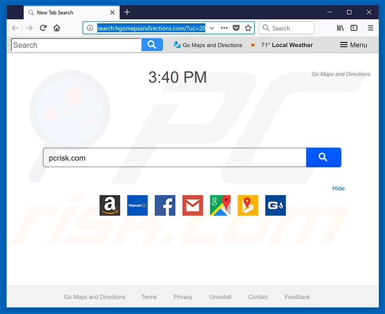 search.hgomapsandirections.com browser hijacker