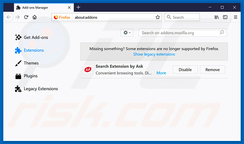 Removing ImpaqSpeed ads from Mozilla Firefox step 2