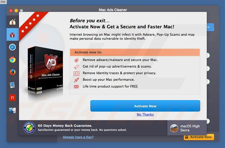 Mac Ads Cleaner unwanted application