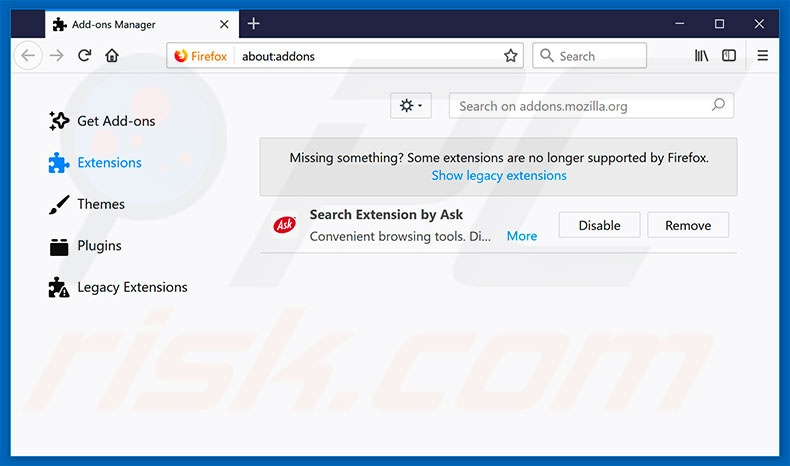 Removing Multitimer ads from Mozilla Firefox step 2