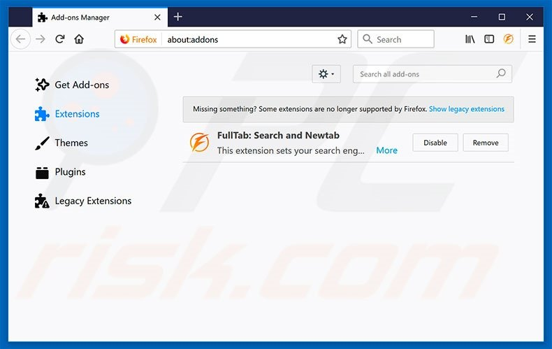 Removing my-search.com related Mozilla Firefox extensions
