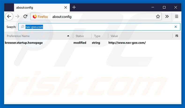 Removing nav-goo.com from Mozilla Firefox default search engine