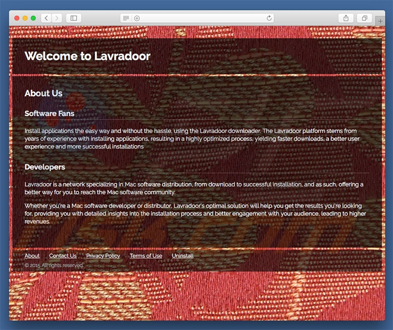 Dubious website used to promote Lavradoor