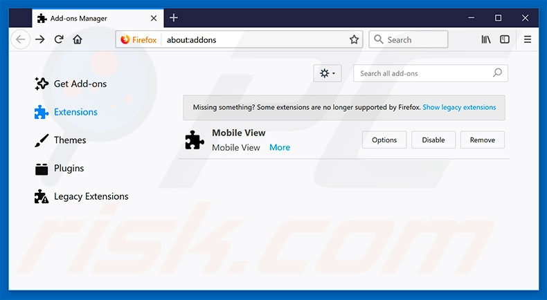 Removing WhiteClick ads from Mozilla Firefox step 2