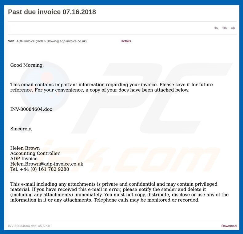 How To Remove ADP Invoice Email SPAM Virus Removal Guide - Adp open invoice