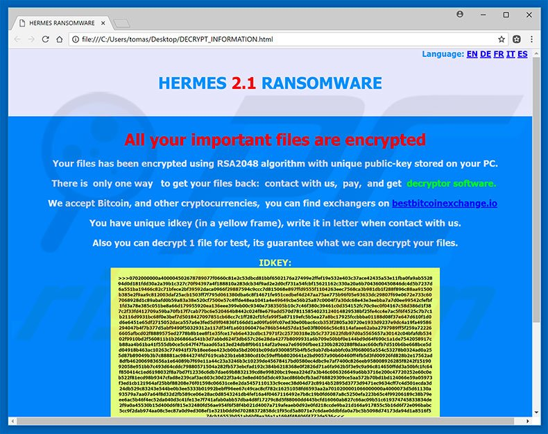 Hermes 2.1 decrypt instructions