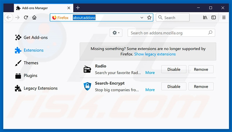 Removing search.hplayfreemusic.com related Mozilla Firefox extensions