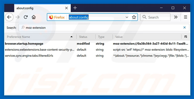 Removing search.hplayfreemusic.com from Mozilla Firefox default search engine
