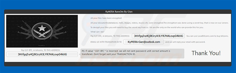 KyMERA decrypt instructions