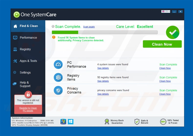 one systemcare application
