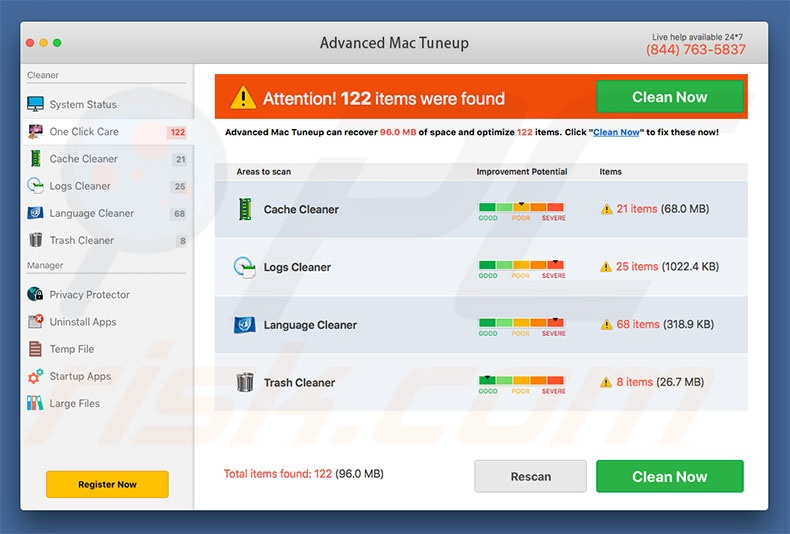 Advanced Mac Tuneup unwanted application