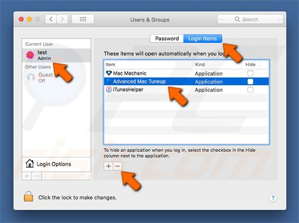 Advanced Mac Tuneup PUP system preferences