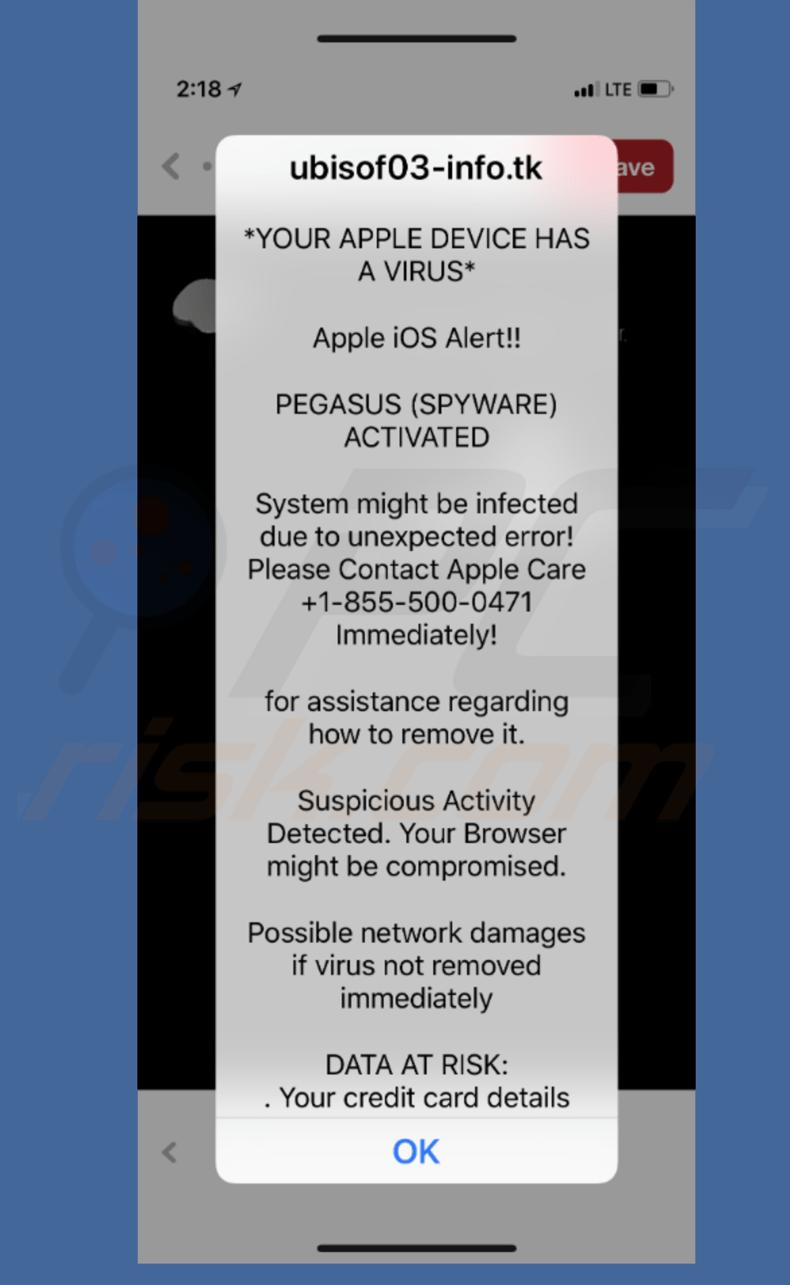 Ios spyware warning
