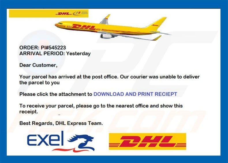 How To Remove Dhl Email Virus Virus Removal Instructions Updated