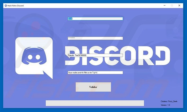 Discord Hacking Tool - My Own Email