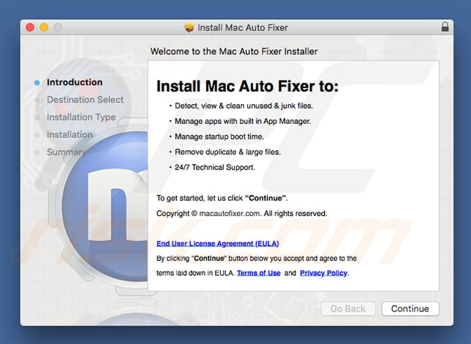 How to get rid of Mac Auto Fixer Unwanted Application (Mac) - virus