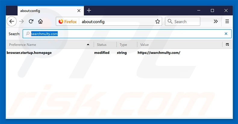 Removing searchmulty.com from Mozilla Firefox default search engine