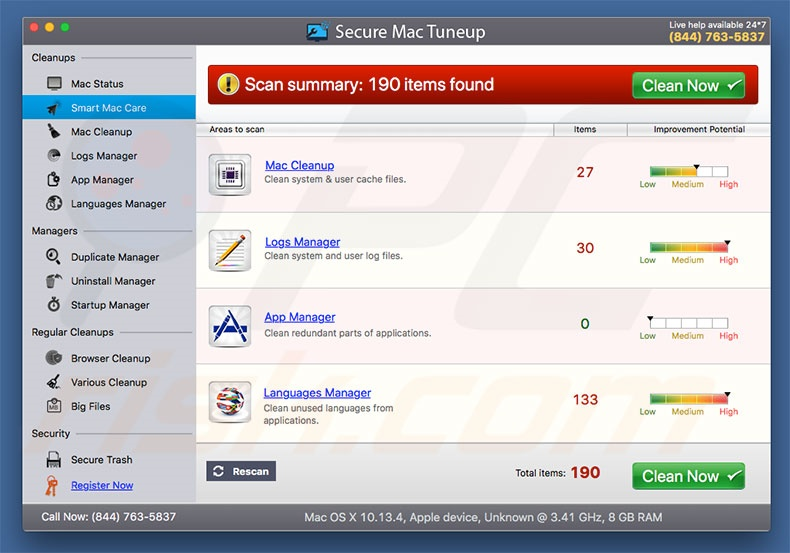 How to get rid of Secure Mac Tuneup Unwanted Application (Mac