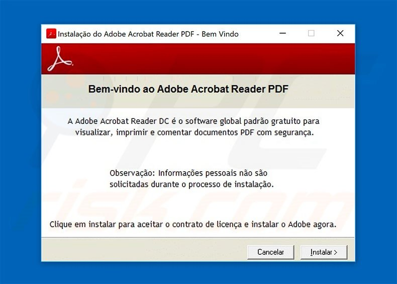 Fake Adobe Acrobat Reader distributing Spy.Delf trojan