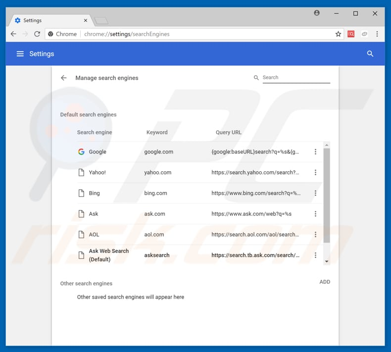 how to get rid of ask toolbar on chrome