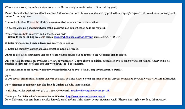 How to remove Companies House Email Virus - virus removal