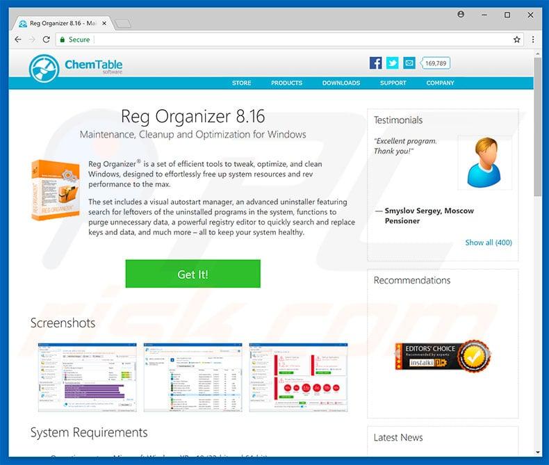 chemtable software reg organizer