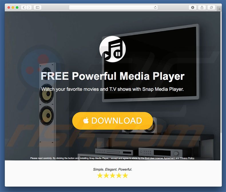 Snam Media Player adware
