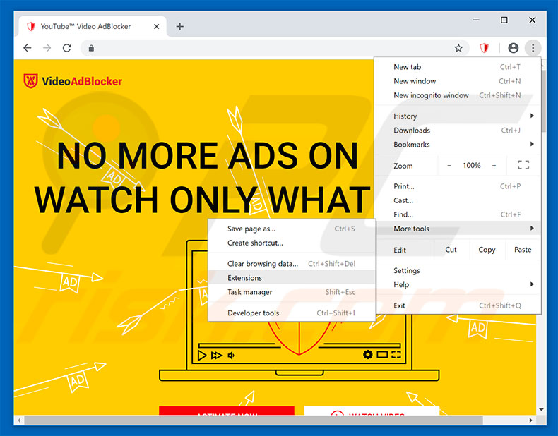 how to delete adblocker from chrome