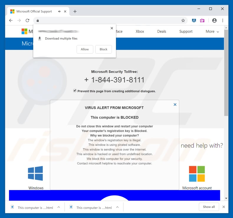 How To Remove Microsoft Security Tollfree Pop Up Scam Virus