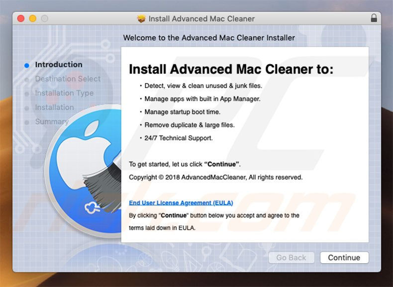 Official Advanced Mac Cleaner installation setup