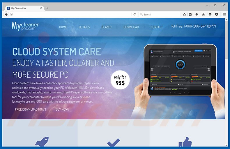 Cloud System Care unwanted application