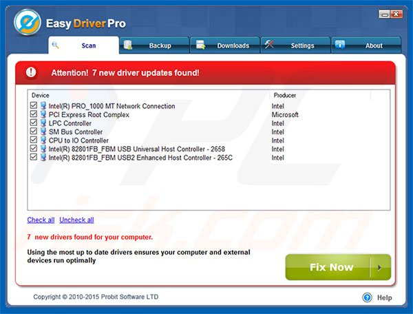Easy Driver Pro application