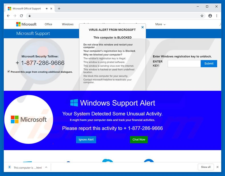 How To Remove Microsoft Support Pop Up Scam Virus Removal Guide