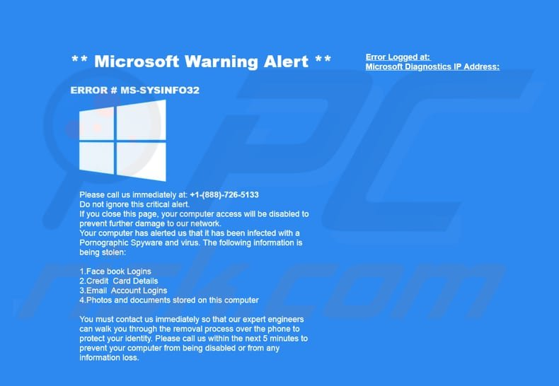 How to remove MS-SYSINFO32 POP-UP Scam - virus removal guide (updated)