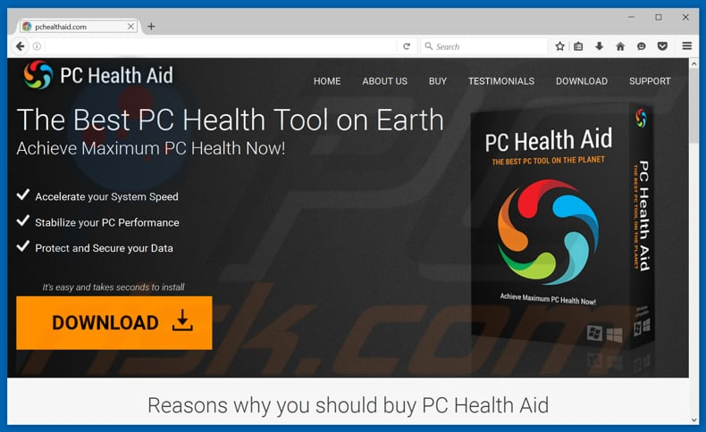 PC Health Aid unwanted application