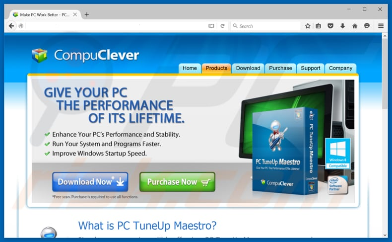 PC TuneUp Maestro unwanted application