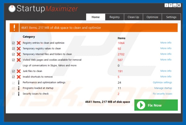 Startup Maximizer application