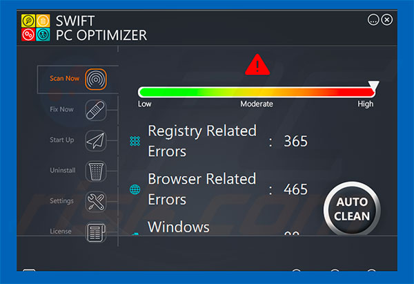 Swift PC Optimizer application
