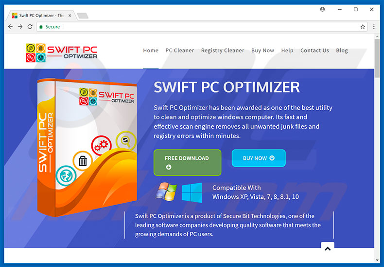 Swift PC Optimizer unwanted application