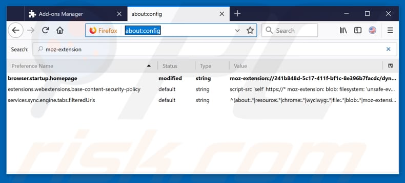 Removing hp.myway.com from Mozilla Firefox default search engine