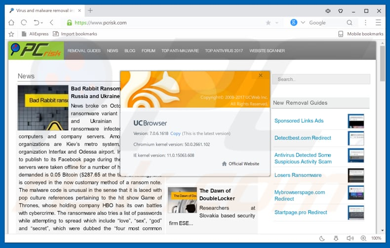 How to uninstall UC Browser Adware - virus removal instructions