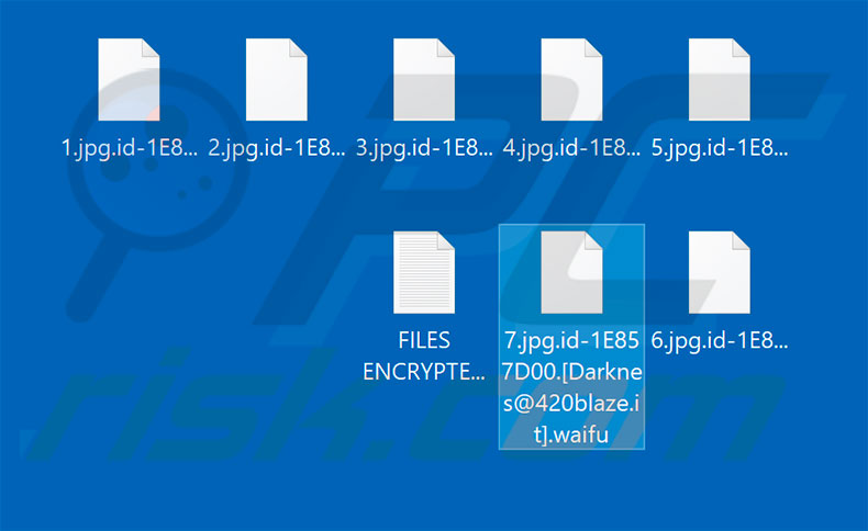 Files encrypted by Waifu
