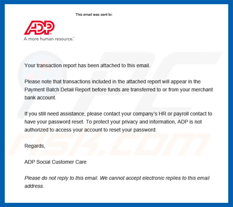 Another variant of ADP Email Virus spam campaign distributing TrickBot trojan